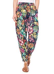 Multicoloured Pom Trim Drapey Trousers