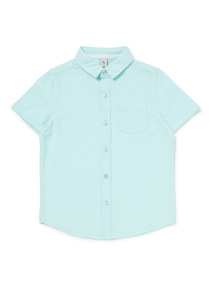 Mint Green Linen Shirt (3-14 years)