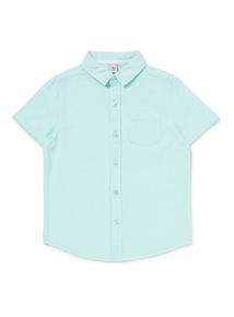 Mint Green Linen Shirt (3-14 years)