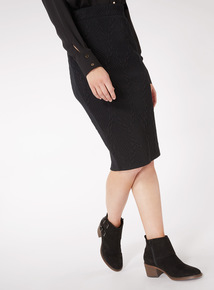 Quilted Knee Length Skirt