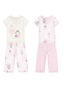 Girls Ballerina PJ Set 2 Pack (9 months - 5 years)