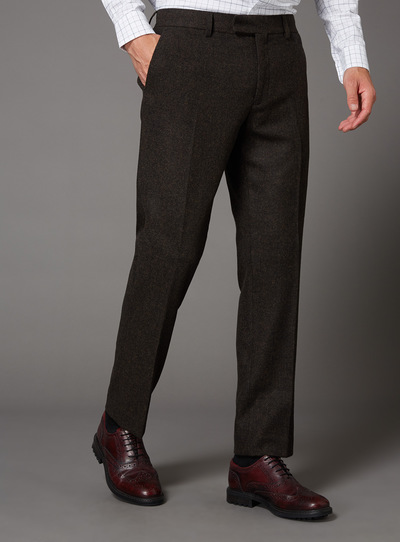 Brown Wool Suit Trousers