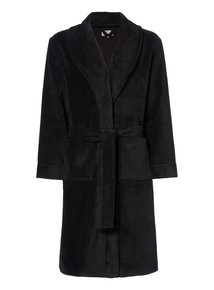 Black Towel Dressing Gown