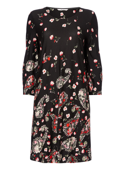Floral Tie Sleeve Dress