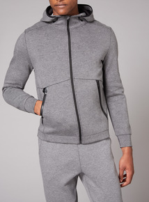 Admiral Grey Sweat Zip Through Hoodie