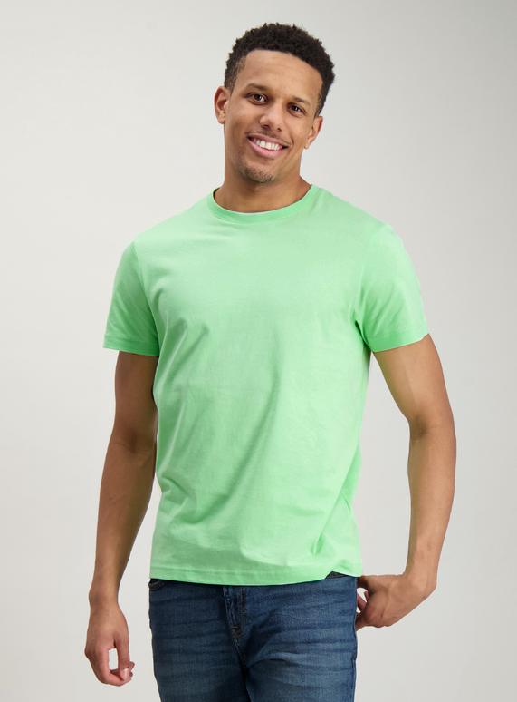 71e5118944cb Menswear Neon Green Crew Neck T-Shirt