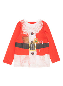 Multicoloured Christmas Santa Body Tee (9 months - 5 years)
