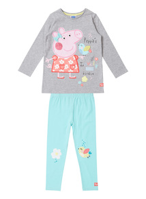 Multicoloured Peppa Pig Leggings and Top Set (9 months- 6 years)