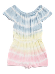 Multicoloured Tie Dye Playsuit (3-14 years)