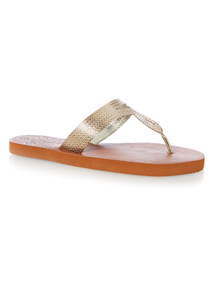 Metallic Swirl Toe Post Sandals