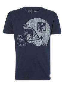 Navy NFL Helmet Logo Tee