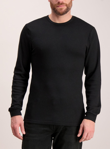 Black Thermal Long Sleeve T-Shirt
