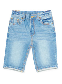 Denim Mid Wash Shorts (3-14 years)
