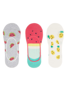 Tropical Footsie Socks 3 Pack