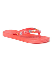Coral Toe Post Jelly Sandals