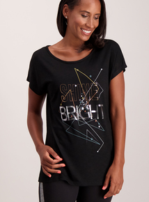 Black 'Shine Bright' T-Shirt