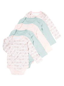 5 Pack Nordic Fables Bodysuits (0-24 months)