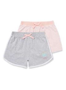 2 Pack Multicoloured Shorts (4-14 years)