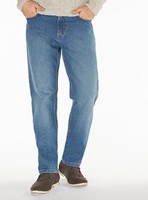 Light Wash Denim Straight Jeans