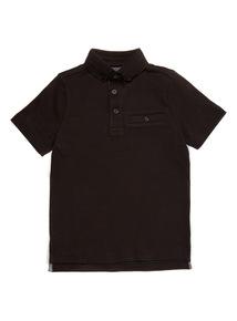 Black Short Sleeve Smart Polo (3-14 years)