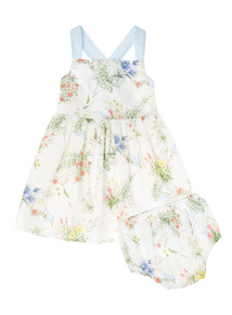 Multicoloured Floral Dress With Knicker (9 months - 7 years)