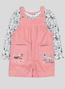 Pink Cord Dress and Puppy Pal T-Shirt Set (9 months - 6 years)