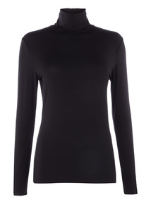 Polo Neck Thermal Long Sleeve Top