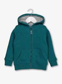 Green Zip Through Hoodie (1 - 6 Years)