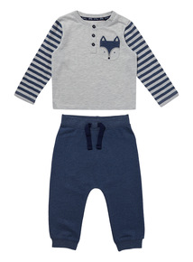 Blue Fox Tee And Joggers Set (0-24 months)