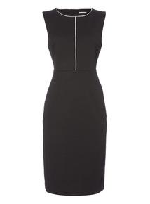 Black Illusion Tipped Dress