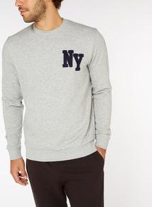 Grey NY Crew Neck Sweatshirt