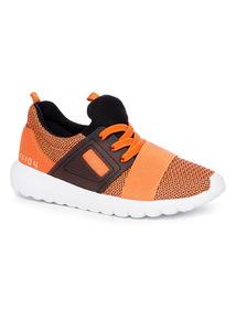 Orange Mesh Trainers