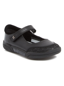 Black Leather Star Shoes