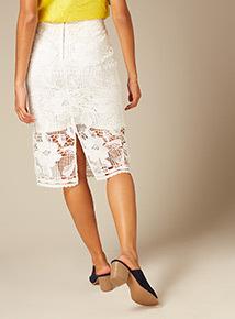 Premium Lace Pencil Skirt