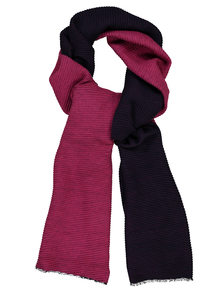 Multicoloured Ribbed Scarf
