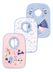 3 Pack Multicoloured Popover Bibs