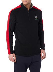 Black Welsh Rugby Union Fleece