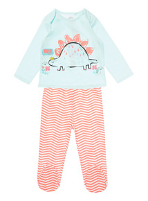 Multicoloured Dino Pyjama Set (0-24 months)