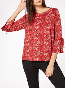 Multicoloured Sleeve Detail Top