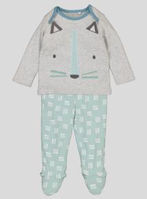 Grey & Green Walrus Pyjamas (0-24 months)
