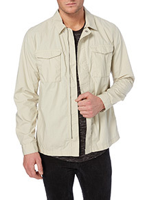 Stone Long Sleeve Overshirt
