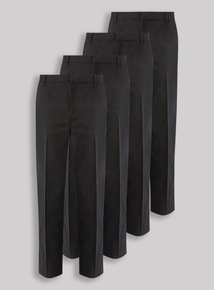 4 Pack Grey Trousers (3-12 years)