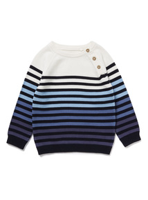 Blue Ombre Stripe Jumper (0-24 months)