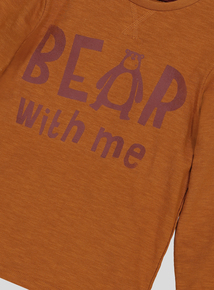 Brown 'Bear With Me' Long Sleeve T-Shirt (9 months-6 years)