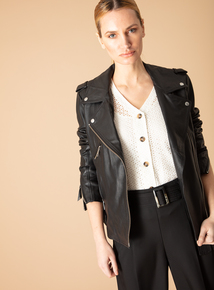 Premium Online Exclusive Black Leather Jacket