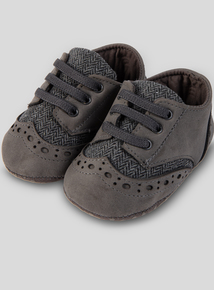 Grey Baby Shoes (0-18 Months)