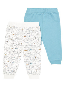 Teal 2 Pack Jogger (0-24 months)
