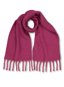 Pink Bouclé Woven Scarf