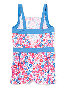 Multicoloured Floral Print Swimsuit (3-12 years)