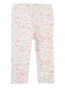 Girls Multicoloured Dino Print Leggings (0-24 months)